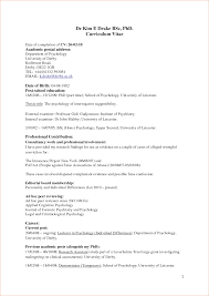 cover letter Cv Example Psychology Graduate Verification Letters  Pdfpsychology resume samples