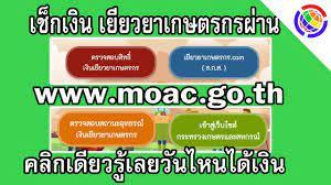 เช็กเงินเยียวยาเกษตรกรผ่าน www.moac.go.th คลิกเดียวรู้เลยวันไหนได้เงิน -  YouTube