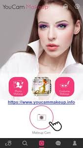 youcam makeup is a great beauty camera app which helps you to add makeup hairstyles accessories on you to make the photo look more beautiful