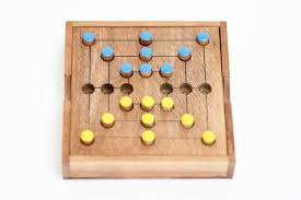 Wooden Strategy Games 100 Man's Morris Strategy Wooden Game Solve It Think Out of the Box 1