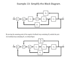 block diagram representation of control systems       example    simplify the block diagram