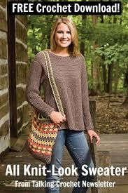Free Crochet Sweater Patterns Enchanting FREE All KnitLook Sweater Crochet Pattern From Talking Crochet