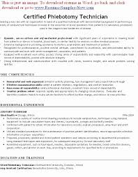 Personal Phlebotomy Resume Examples Visit To Reads