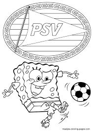 Psv Spongebob Squarepants Kleurplaat