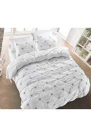 california design den by nmk diamond pintuck duvet cover set white nordstrom rack
