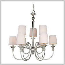 hampton bay locksley collection 9 light chrome chandelier chiffon shades new