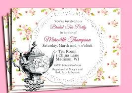 tea party templates bridal tea party invitation template floral bridal shower tea party