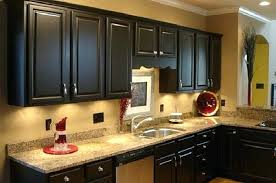 paint dark wood kitchen cabinets painting vintage styles painted black before and after can you white