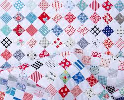 Red Pepper Quilts: Red White and Blue Postage St& Quilt - A ... & Red White Blue Postage Stamp Quilt | Red Pepper Quilts 2016 Adamdwight.com