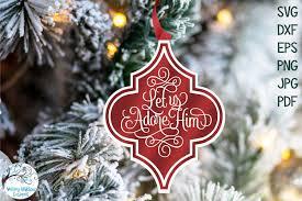 Chevron christmas ornament monogram svg or silhouette instant. Religious Arabesque Christmas Ornament Svg Bundle Vol 6 1036420 Illustrations Design Bundles