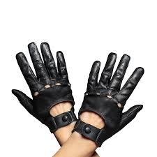 women s driving leather gloves black