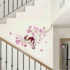 Beautiful Wall Decoration Using Cherry Blossom Wall Mural : Great Interior  Design Ideas With Monkey Pink ...