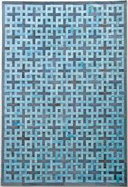 eternity brown grey modern leather area rug jpg
