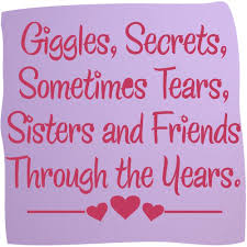 Short Sister Quotes Impressive Giggles Sisters Friends Vinyl Wall Decal Words Stickers Sisters