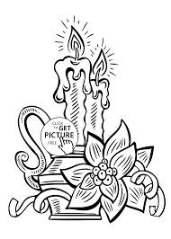 Small Picture candle coloring pages for kids printable free