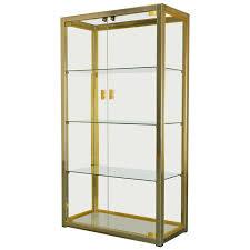 italian glass brass chrome display cabinet by renato zevi rizzo rega for