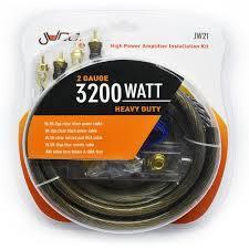 JWTRU21 2 Gauge High Power Amplifier Wiring Kit 3800W