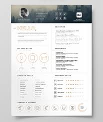 Free Resume With Photo Template Free Resume Template Icon Free Design Resources 56