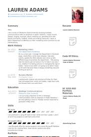 Marketing Resume Custom Marketing Intern Resume Samples VisualCV Resume Samples Database