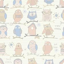 Owl Pattern Magnificent Debona Twit Twoo Owl Pattern Bird Motif Striped Childrens Wallpaper