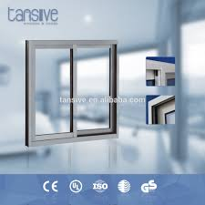 Transparent Aluminium Aluminium Brown Color Sliding Window Aluminium Brown Color