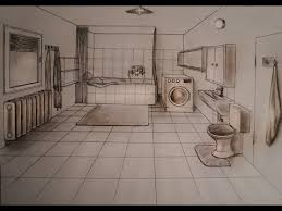 kitchen 1 point perspective. how to draw one point perspective kitchen with furniture desk youtube 1