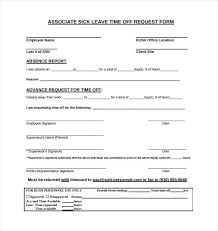 Sick Leave Request Sample Effective Time Off Request Forms Templates ...