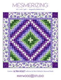 Mesmerizing quilt by Debbie Beaves using Catalina Ultra Violet ... & Mesmerizing Quilt Kit Using Catalina Ultra Violet Collection by Marti  Michel for Maywood Studios, x Pattern by Debbie Beaves by on Etsy Adamdwight.com