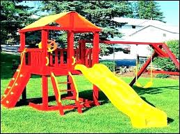 backyard kids swing wooden set frame sets wood best patio cushions covers s wooden swing set