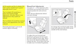 big problem srs light seatbelt light and wiring honda tech see owner s manual excerpts attached images