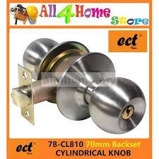 78 cl811 ect cylindrical knob c w 70mm latch backset