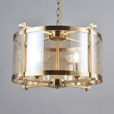 4 lights drum chandelier colonial style