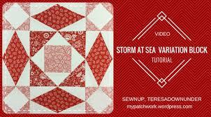 Video tutorial: Double Storm at sea quilt block – variation 2 ... & Storm at sea variation video tutorial Adamdwight.com