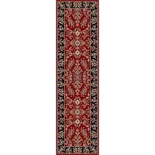 lyndhurst red black 2 ft x 8 ft runner rug