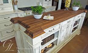custom walnut wood countertop kitchen island in new orleans louisiana