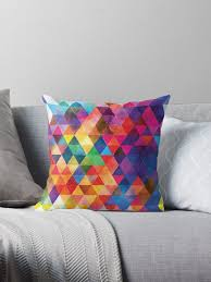 colorful throw pillows.  Colorful Watercolor Triangles Pattern Bright Colors By Junkydotcom Intended Colorful Throw Pillows
