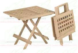 teak table furniture ft 019 table small folding picnic square furniture indonesian ft 019 table