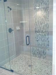 glass tile shower floor mosaic glass tile shower waterfall accent google search sea glass tile shower floor