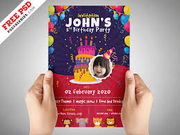 invitation flyer kids birthday party invitation flyer psd psdfreebies com