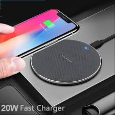 Bộ sạc không dây 20W cho iPhone 11 Xs Max X XR 8 Plus Bộ sạc nhanh 10W cho  Ulefone Doogee Samsung Note 9 Note 8 S10 Plus
