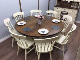 Large Round Farmhouse Table And Chairs 68 Seater Shabby Chic