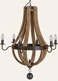 modern wine barrel chandelier in antique farmhouse decor 1