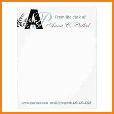 3 Personal Letterhead Format Synopsis Format