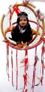 Dream Catcher Dolls Dream catcher 100 diameter 100d with porcelain indian native 9