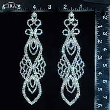 chran classic gold color rhinestone long chandelier dangle earrings for women popular crystal bridal jewelry accessories