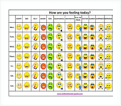 Emoji Feelings Chart Printable 27 Always Up To Date Feelings Chart With Pictures