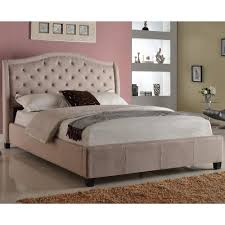 Crown Mark Addison Upholstered Queen Bed with Tufted Headboard