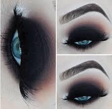 black blue eyes dark eye liner eye shadow lashes make up mascara