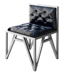 modern metal furniture. Chr-kevin-silvermetal-blackleatherseat-kevin-modern-metal-contemporary- Modern Metal Furniture L