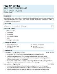 Employment Specialist Resume Inspiration Communications Specialist Resume Example